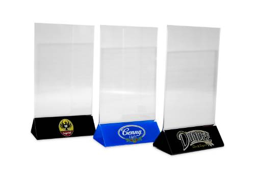 Acrylic Table Tents Acrylic Restaurant Table Tents